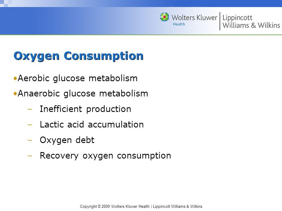 Oxygen Consumption Aerobic glucose metabolism