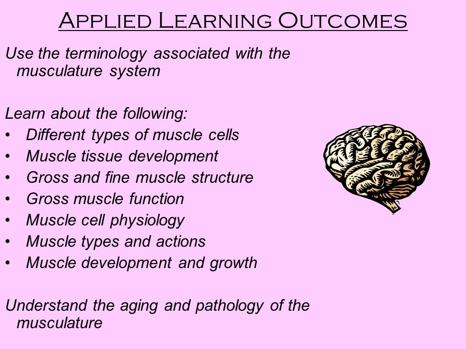 Applied Learning Outcomes