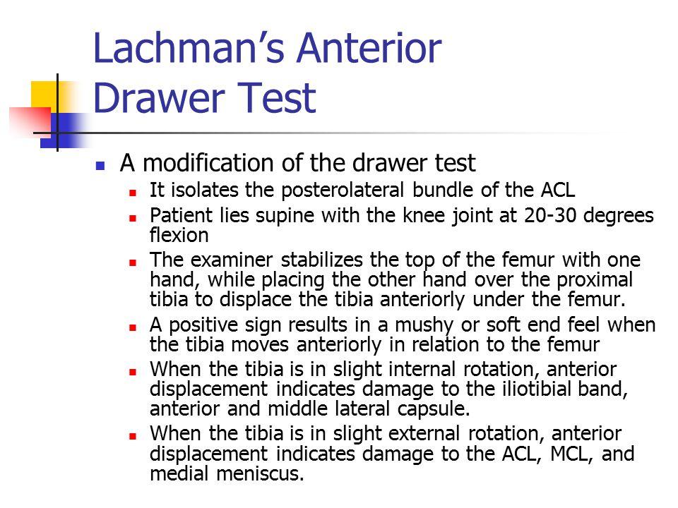 Lachman's Anterior Drawer Test