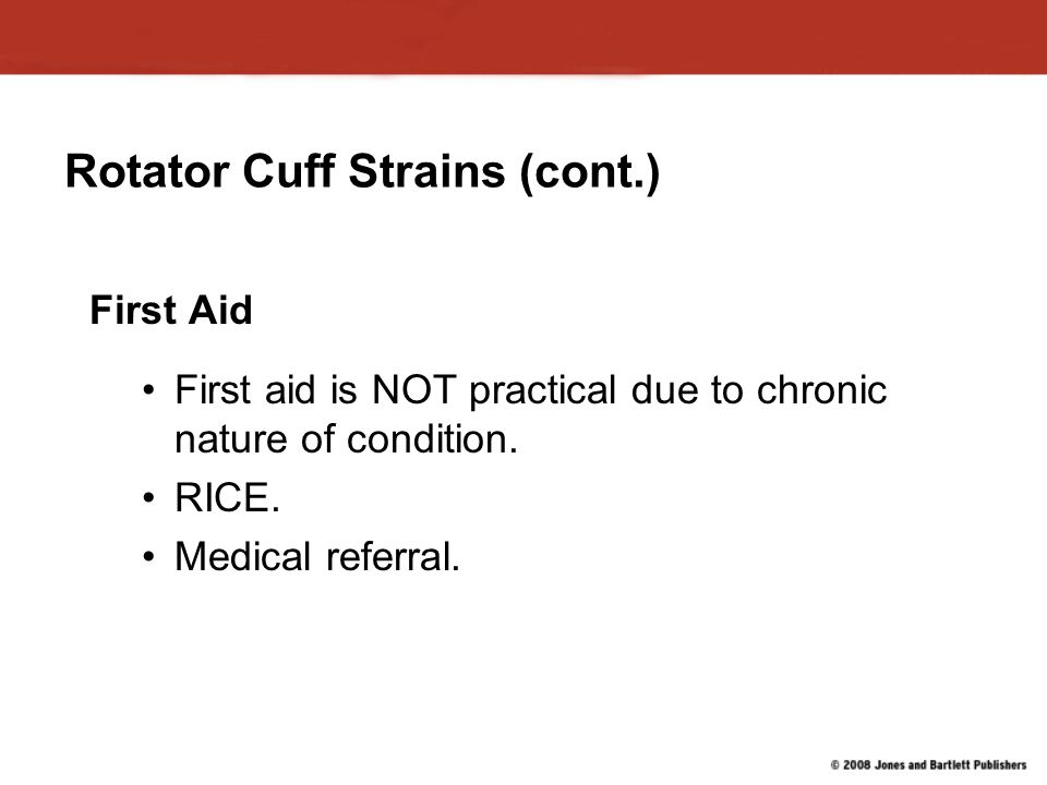 Rotator Cuff Strains (cont.)