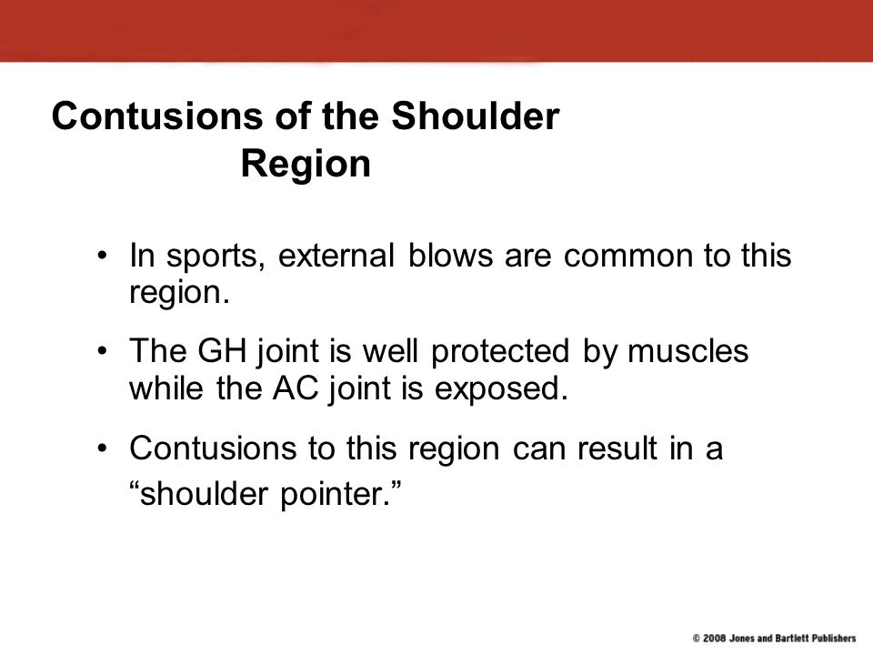 Contusions of the Shoulder Region
