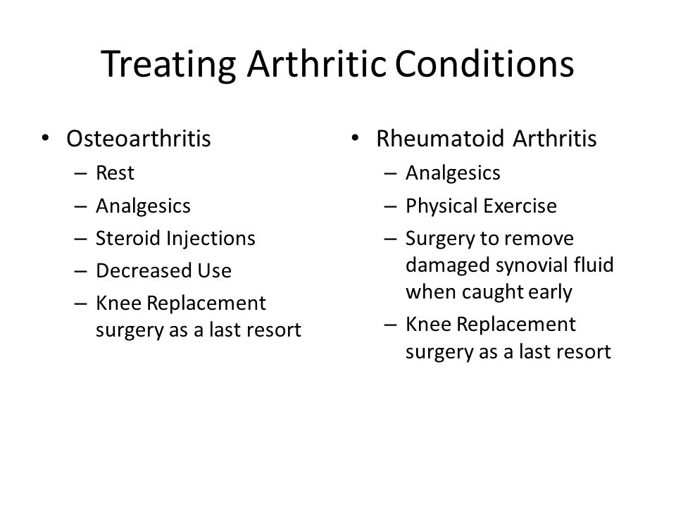Treating Arthritic Conditions