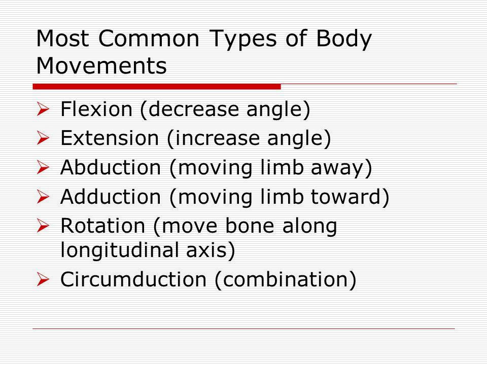 Most Common Types of Body Movements