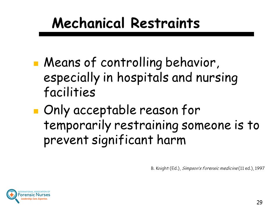 Mechanical Restraints