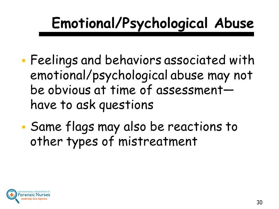 Emotional/Psychological Abuse