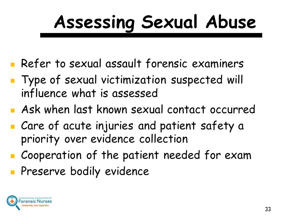 Assessing Sexual Abuse