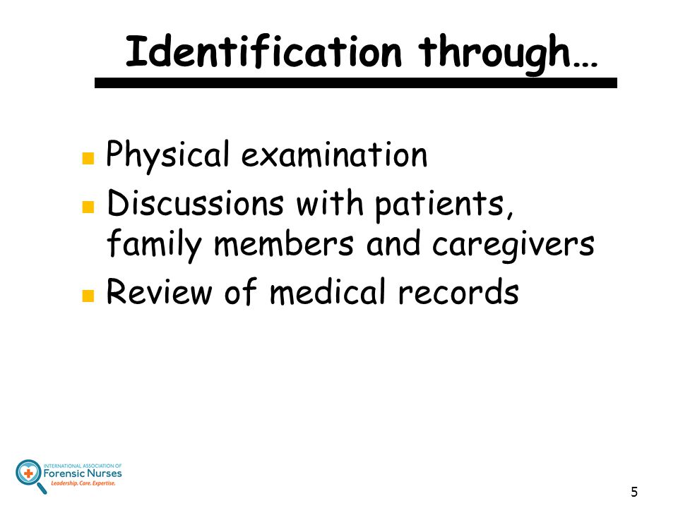 Identification through…