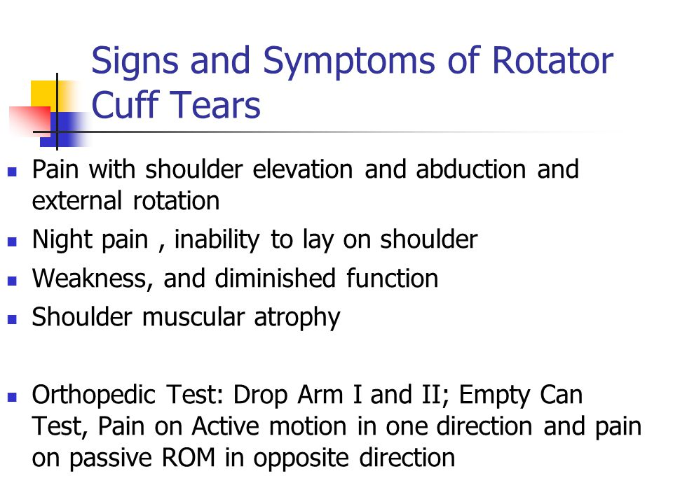 Signs and Symptoms of Rotator Cuff Tears