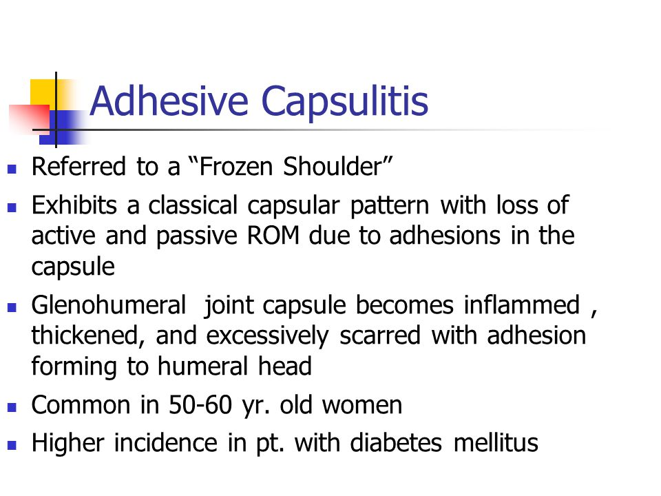 Adhesive Capsulitis Referred to a Frozen Shoulder