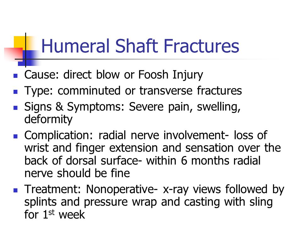 Humeral Shaft Fractures