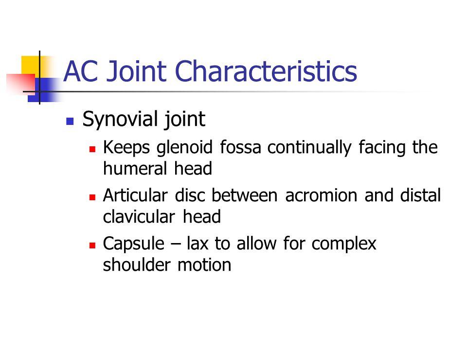 AC Joint Characteristics