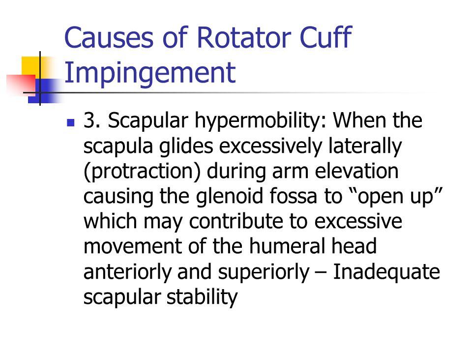 Causes of Rotator Cuff Impingement