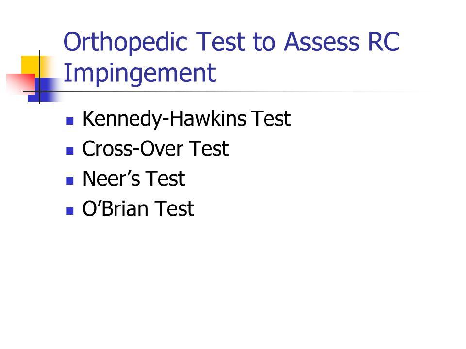 Orthopedic Test to Assess RC Impingement