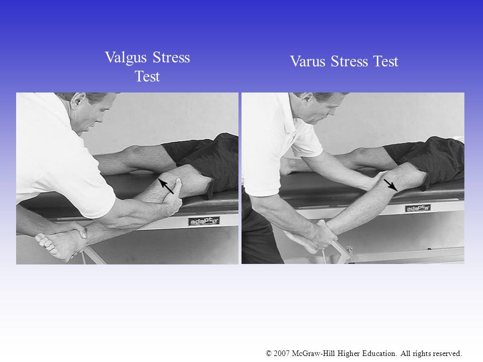 Valgus Stress Test Varus Stress Test
