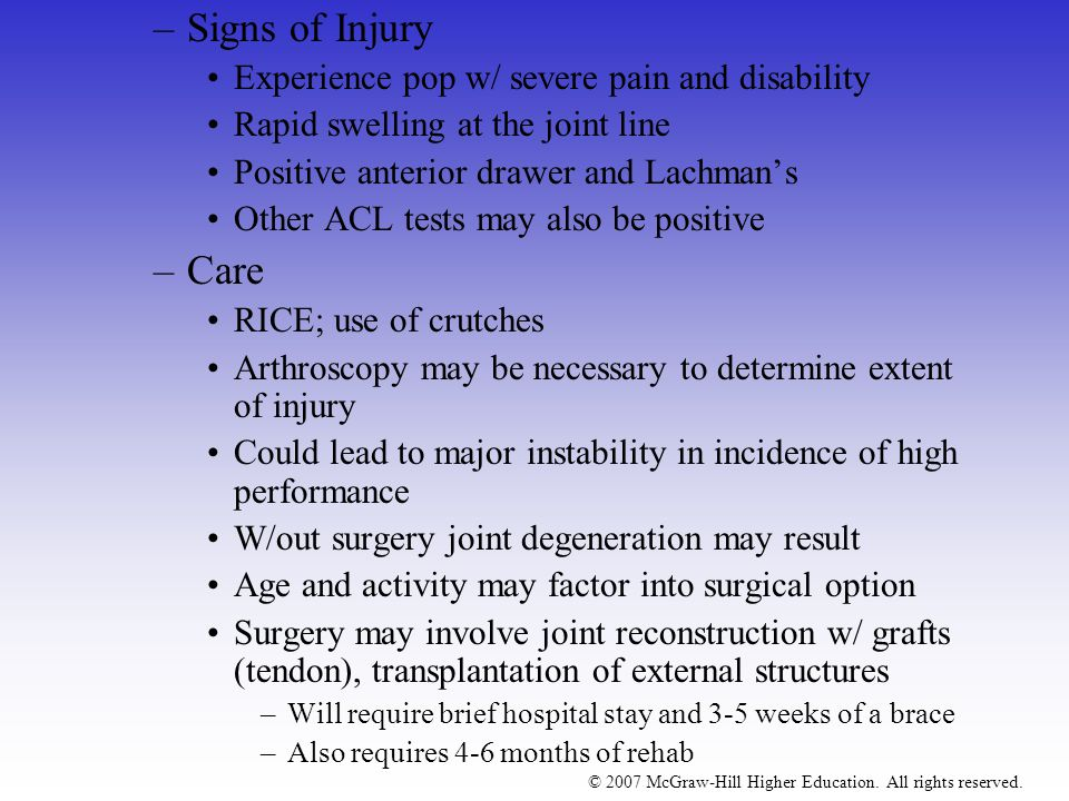Signs of Injury Care Experience pop w/ severe pain and disability