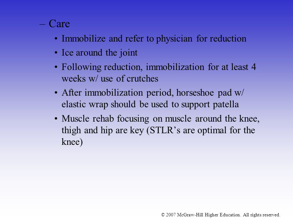 Care Immobilize and refer to physician for reduction