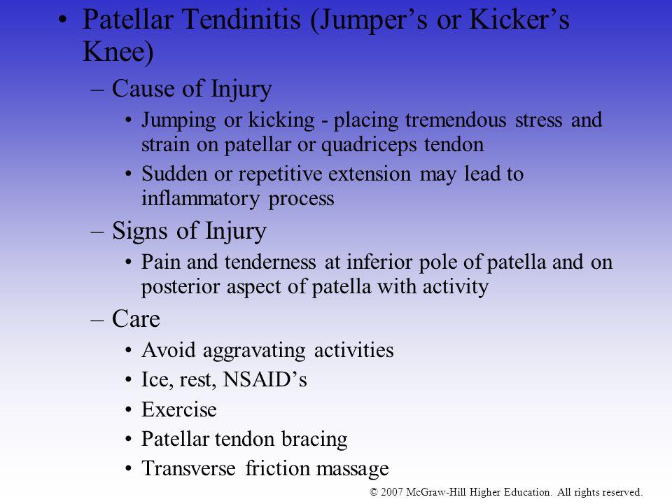 Patellar Tendinitis (Jumper's or Kicker's Knee)