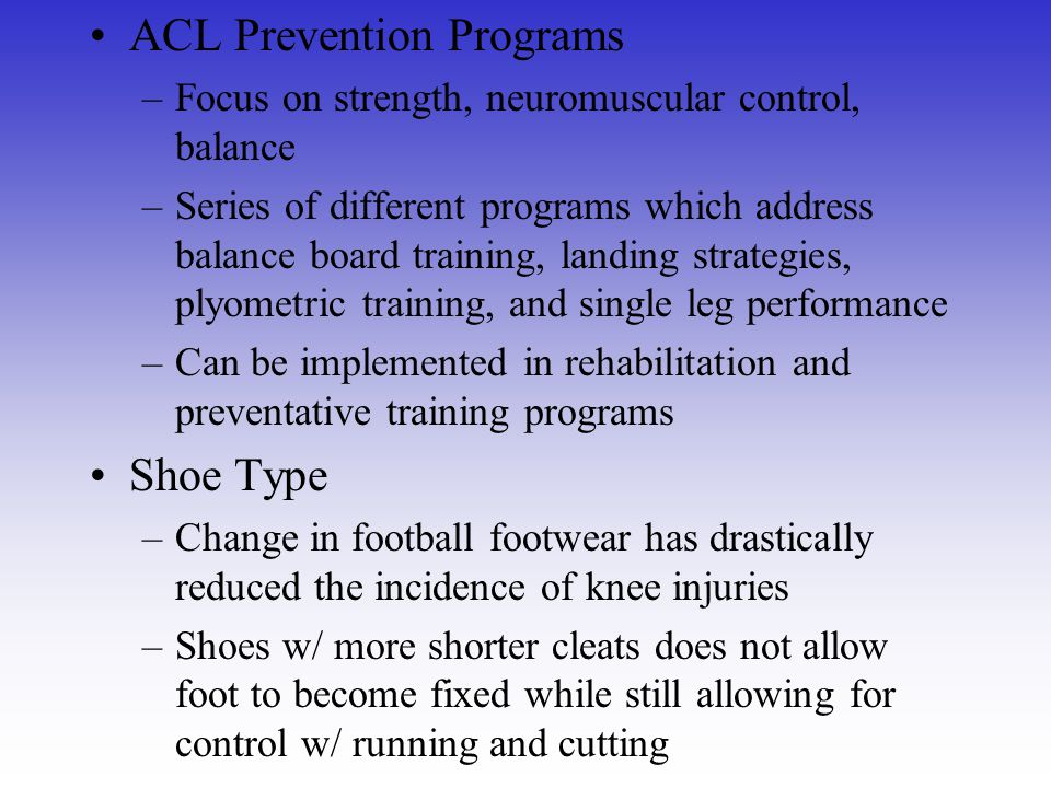 ACL Prevention Programs