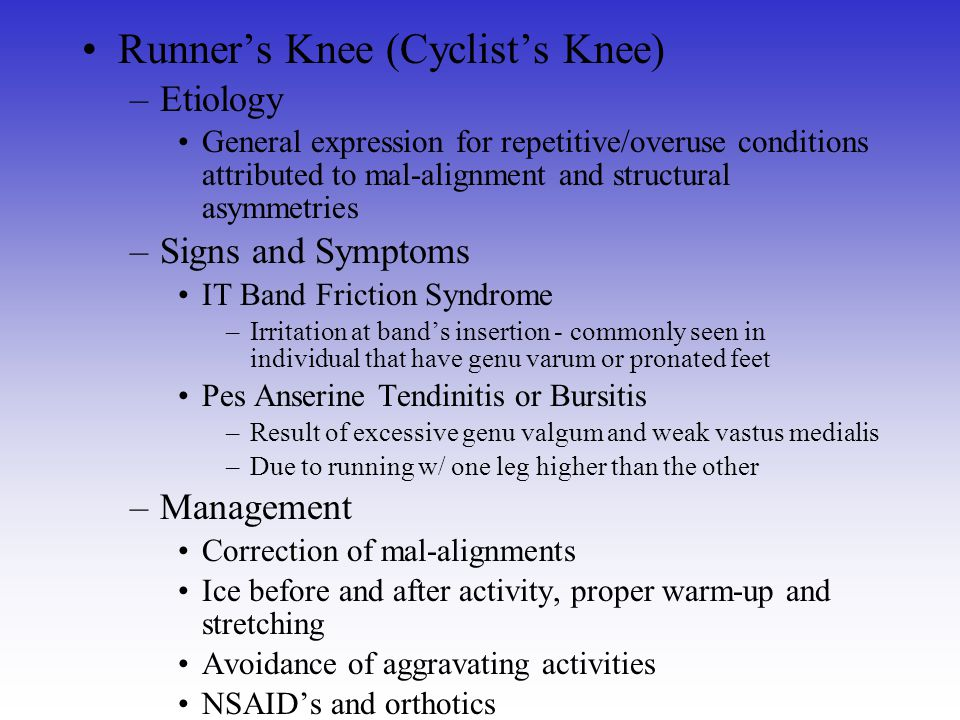 Runner's Knee (Cyclist's Knee)