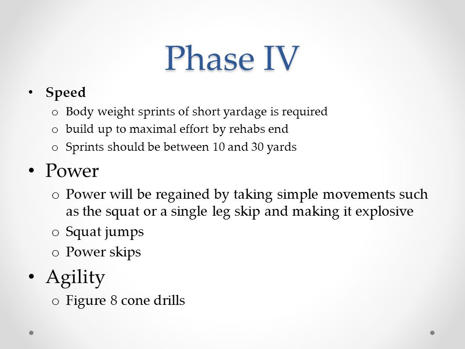 Phase IV Power Agility Speed