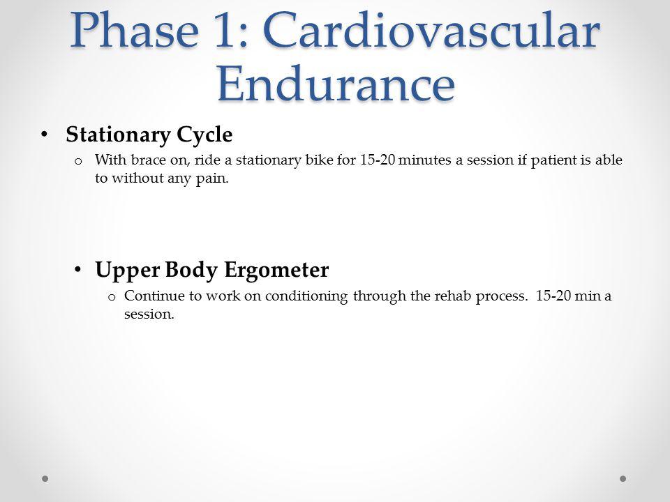 Phase 1: Cardiovascular Endurance