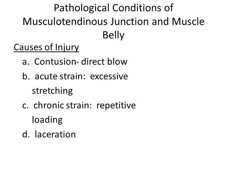 Pathological Conditions of Musculotendinous Junction and Muscle Belly