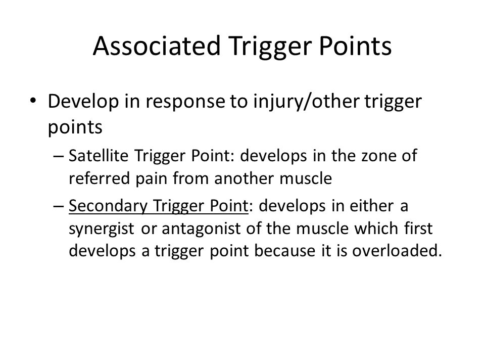 Associated Trigger Points