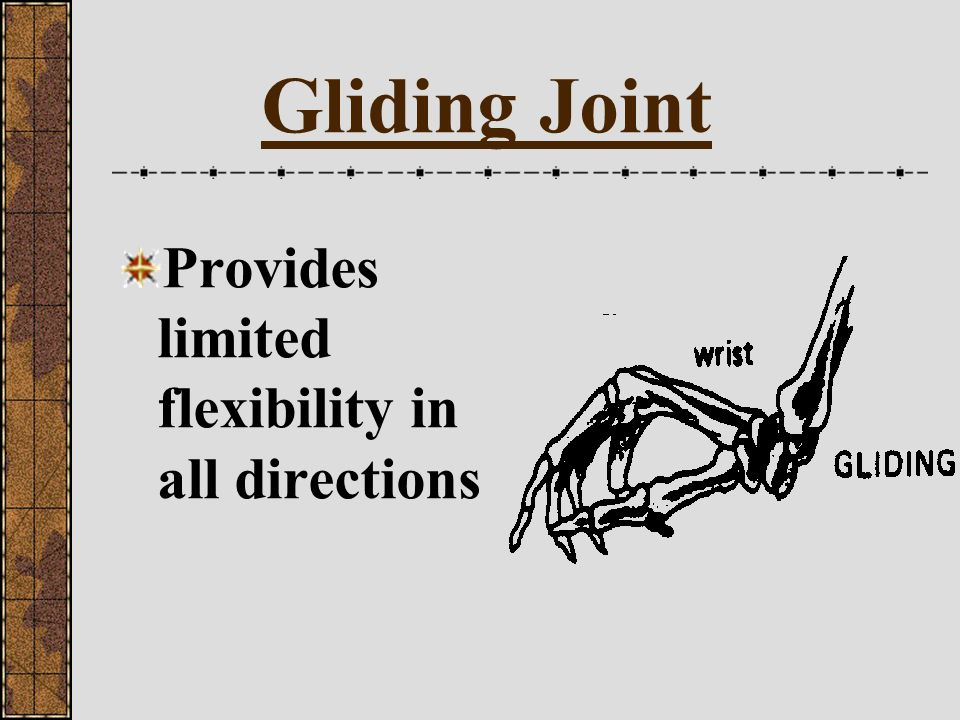 Gliding Joint Provides limited flexibility in all directions