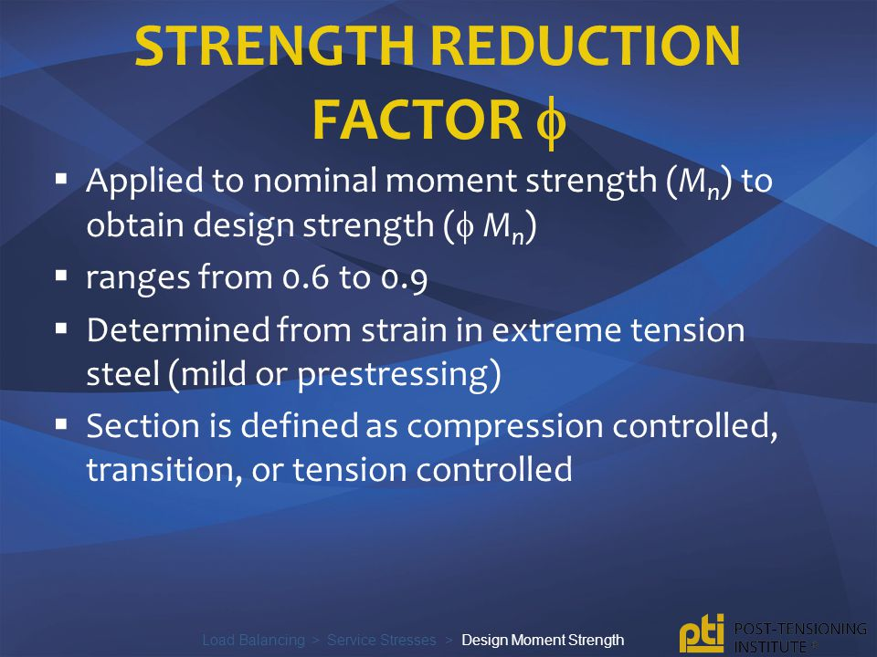 strength reduction factor 