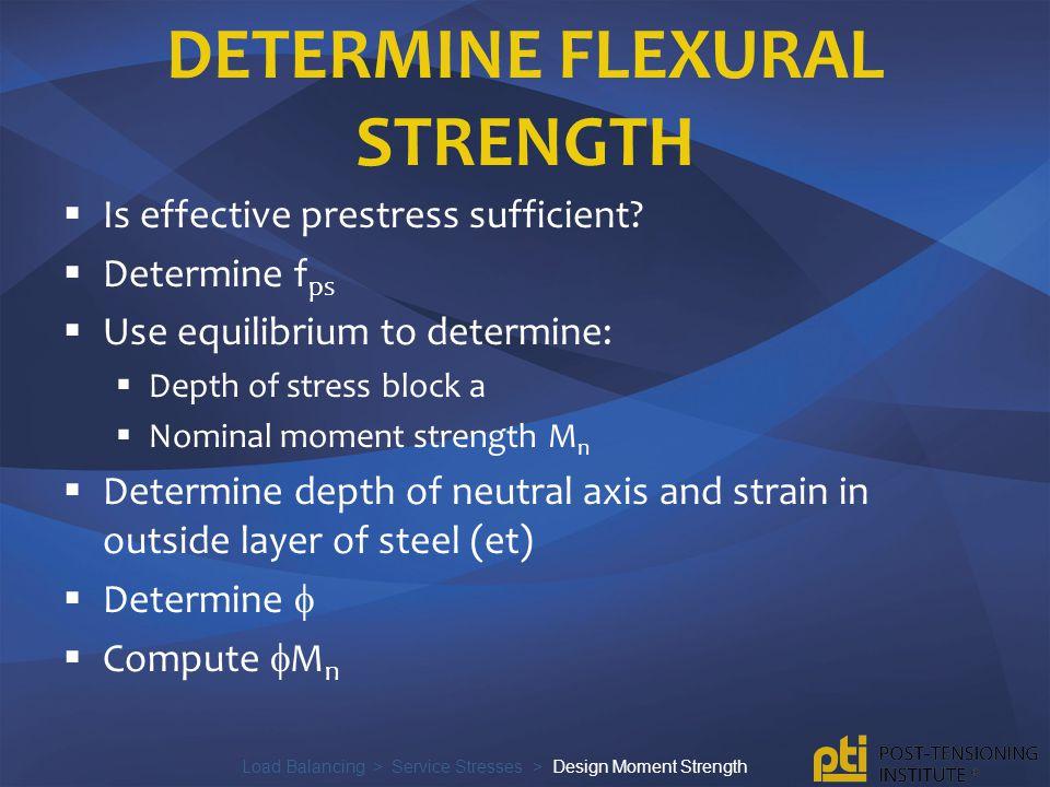 Determine flexural strength