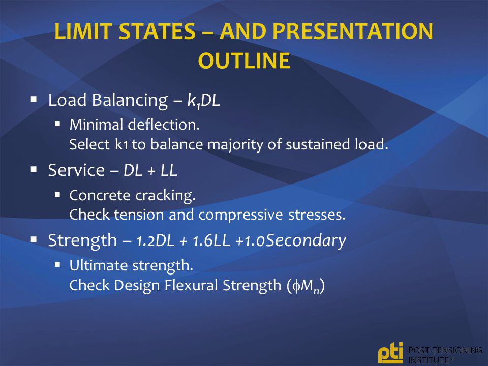 Limit states – and presentation outline