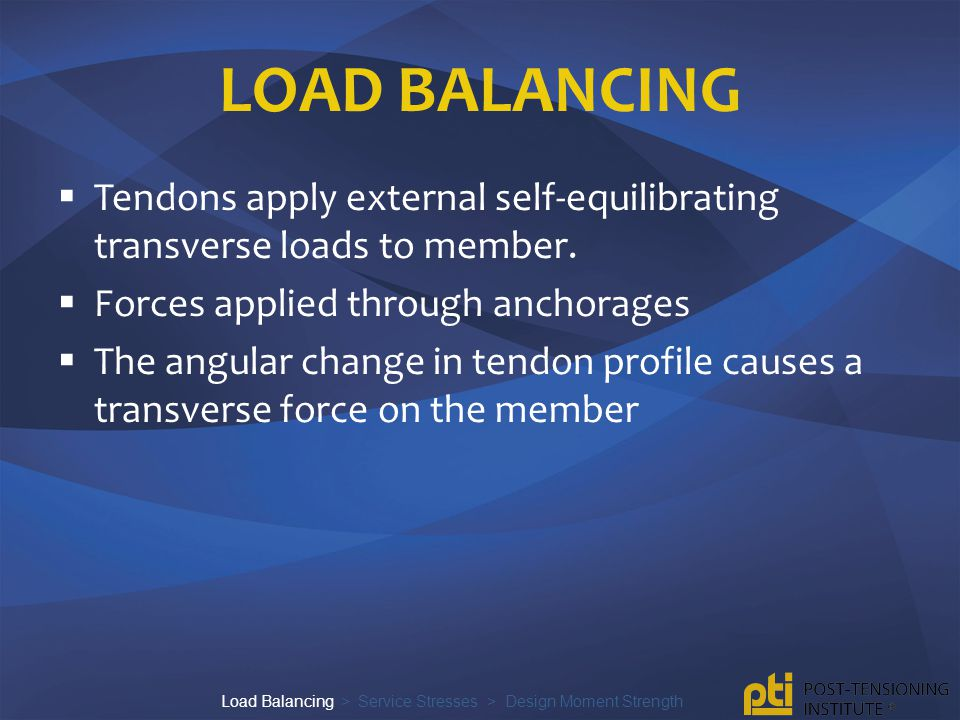 Load Balancing > Service Stresses > Design Moment Strength