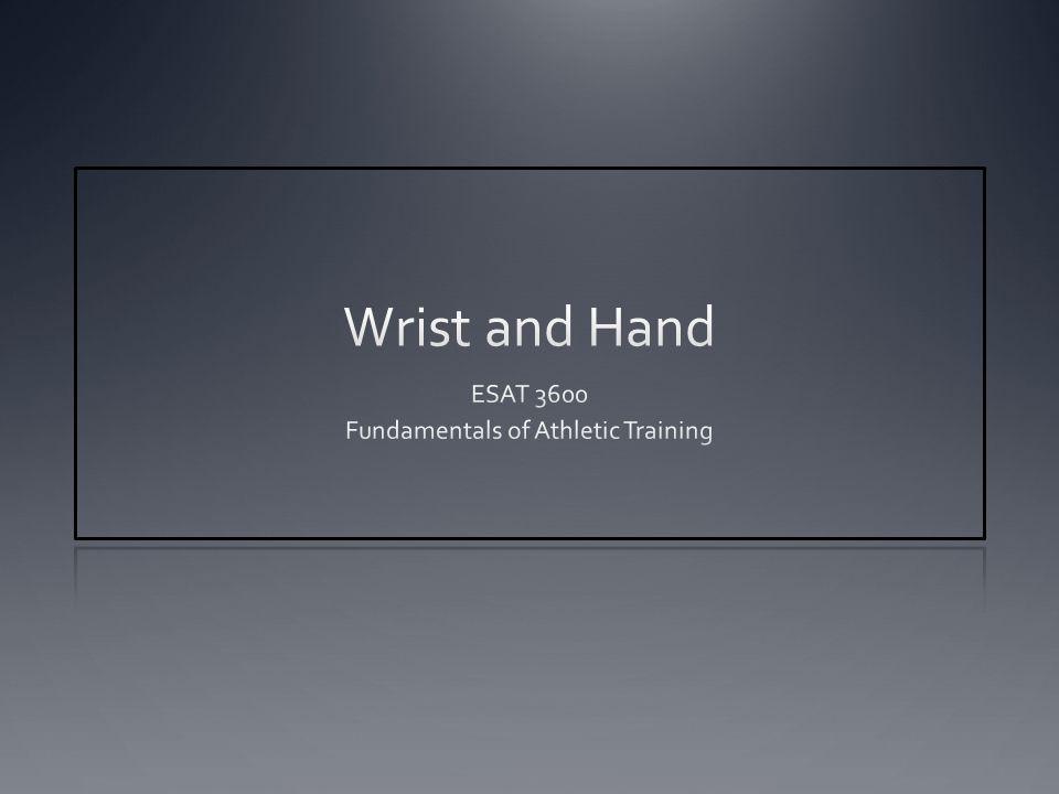 ESAT 3600 Fundamentals of Athletic Training