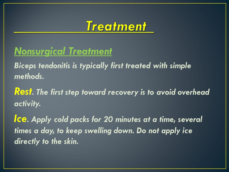Treatment Nonsurgical Treatment