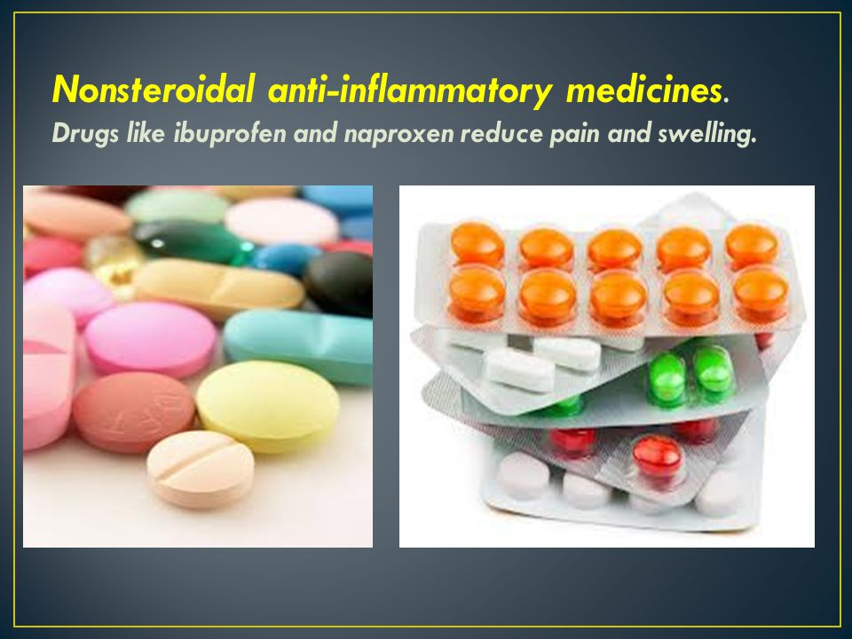 Nonsteroidal anti-inflammatory medicines
