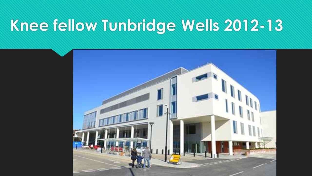 Knee fellow Tunbridge Wells 2012-13
