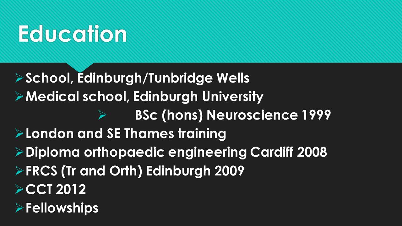 Education School, Edinburgh/Tunbridge Wells