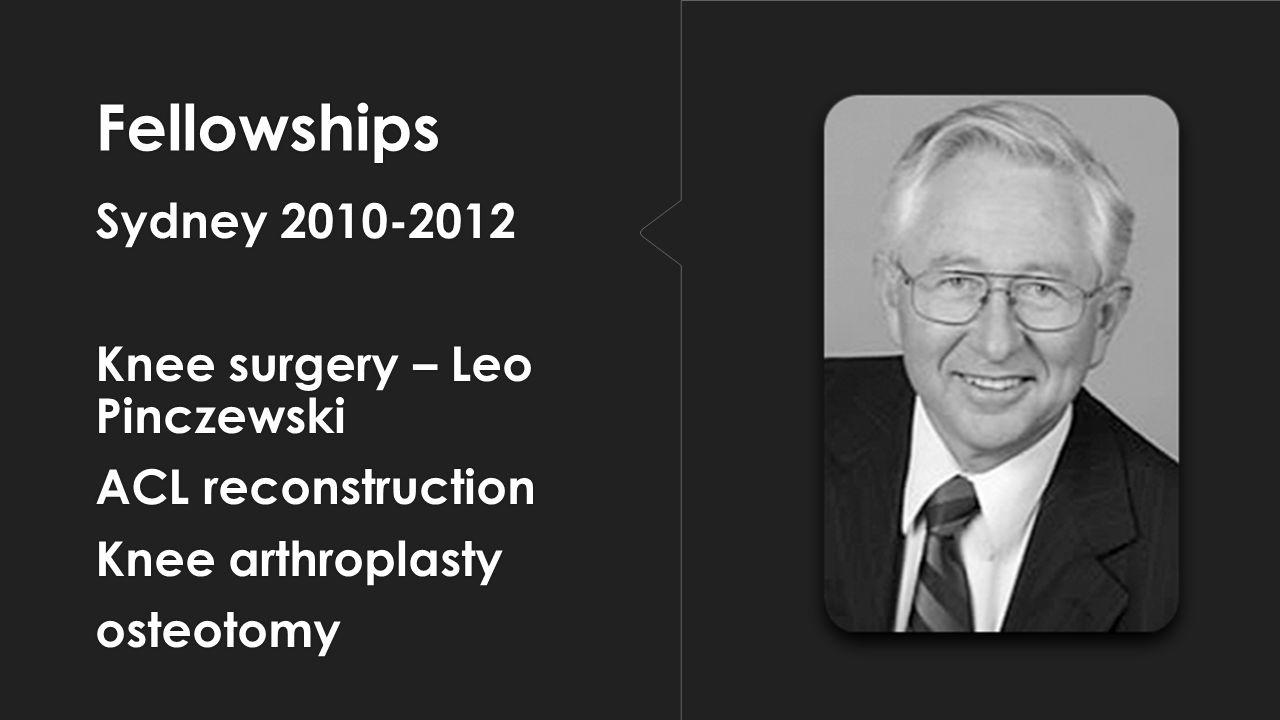 Fellowships Sydney 2010-2012 Knee surgery – Leo Pinczewski