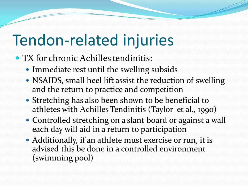 Tendon-related injuries