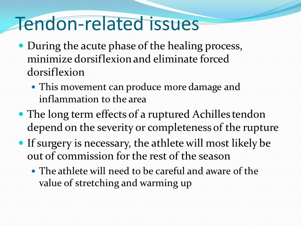 Tendon-related issues