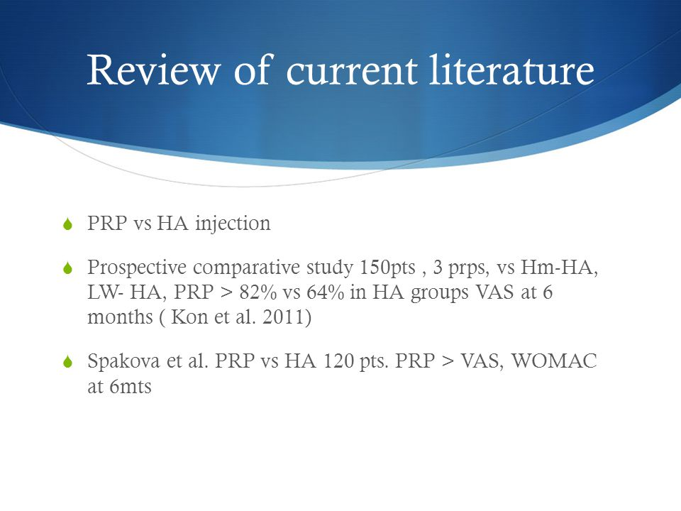 Review of current literature