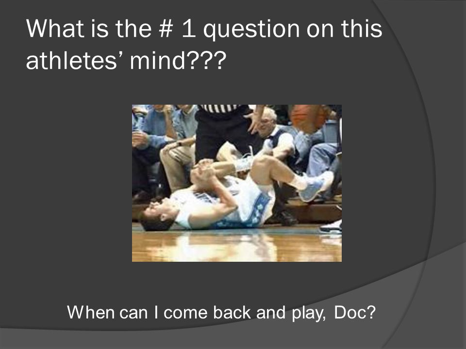 What is the # 1 question on this athletes' mind