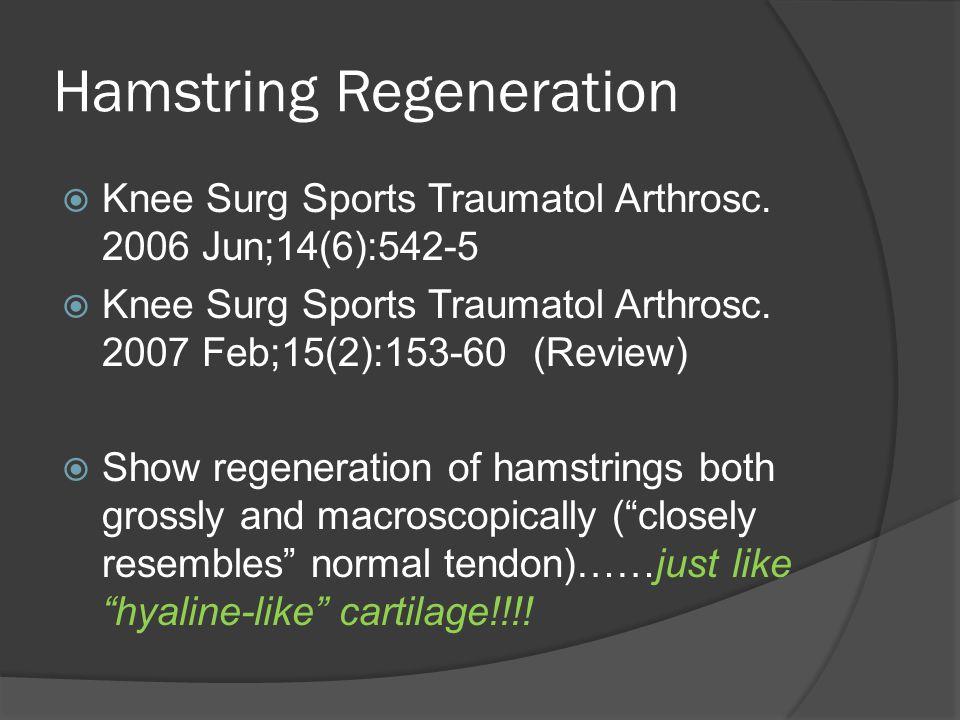 Hamstring Regeneration