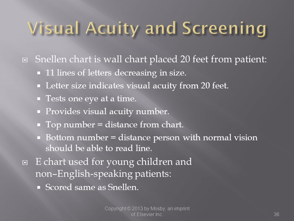 Visual Acuity and Screening