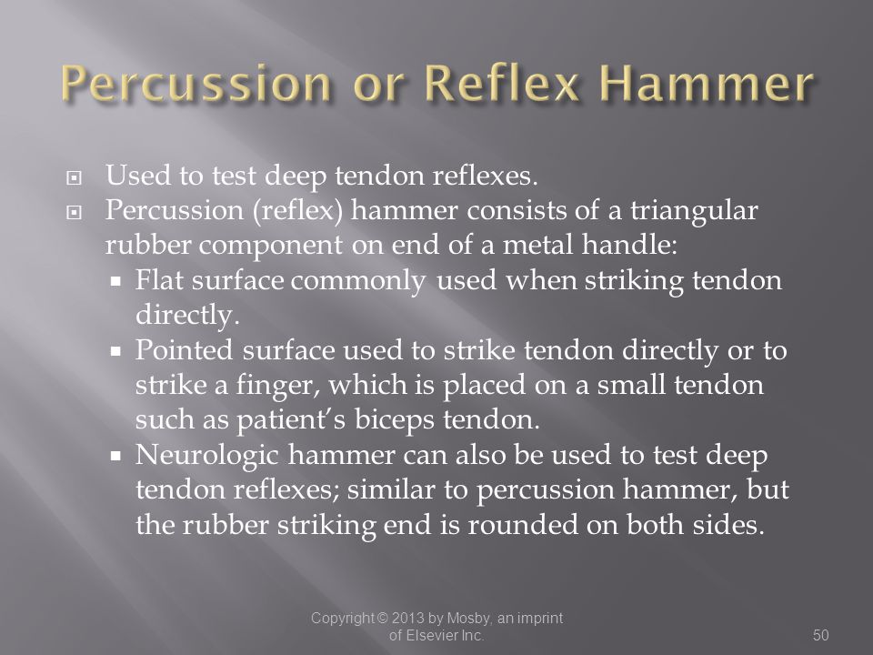 Percussion or Reflex Hammer