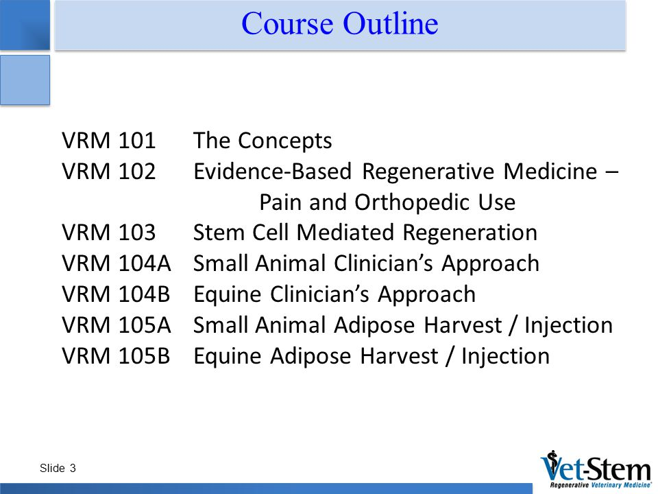 Course Outline VRM 101 The Concepts