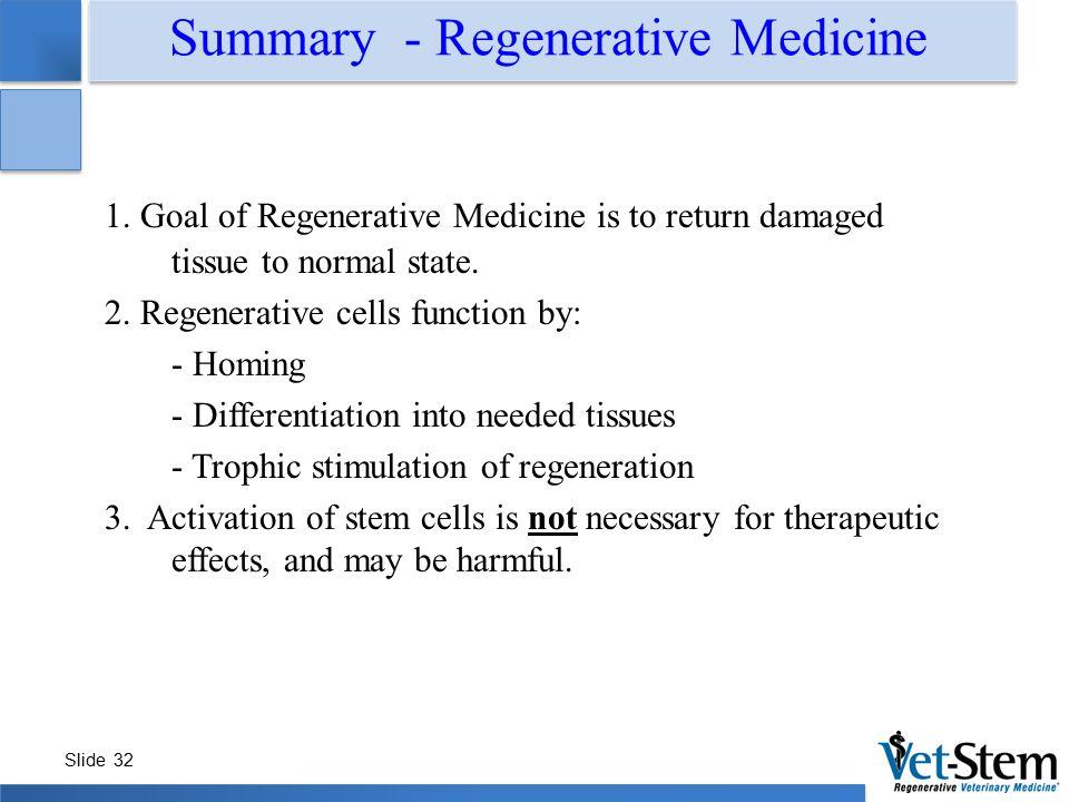 Summary - Regenerative Medicine