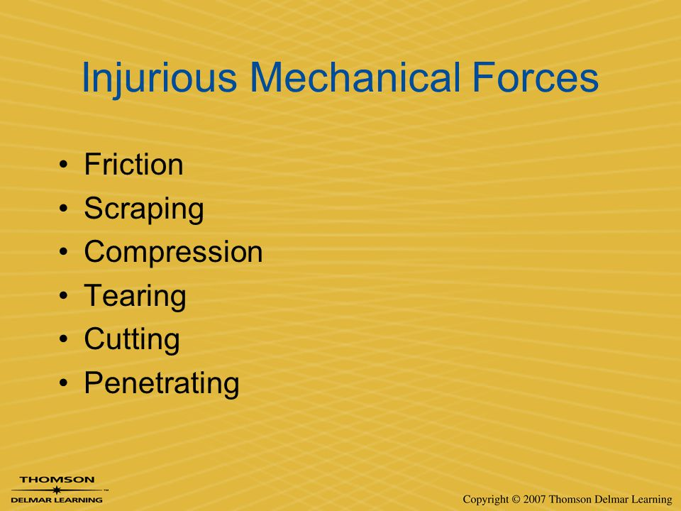 Injurious Mechanical Forces