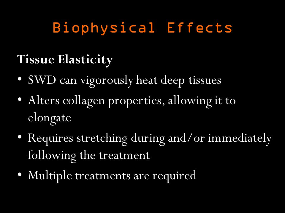 Biophysical Effects Tissue Elasticity