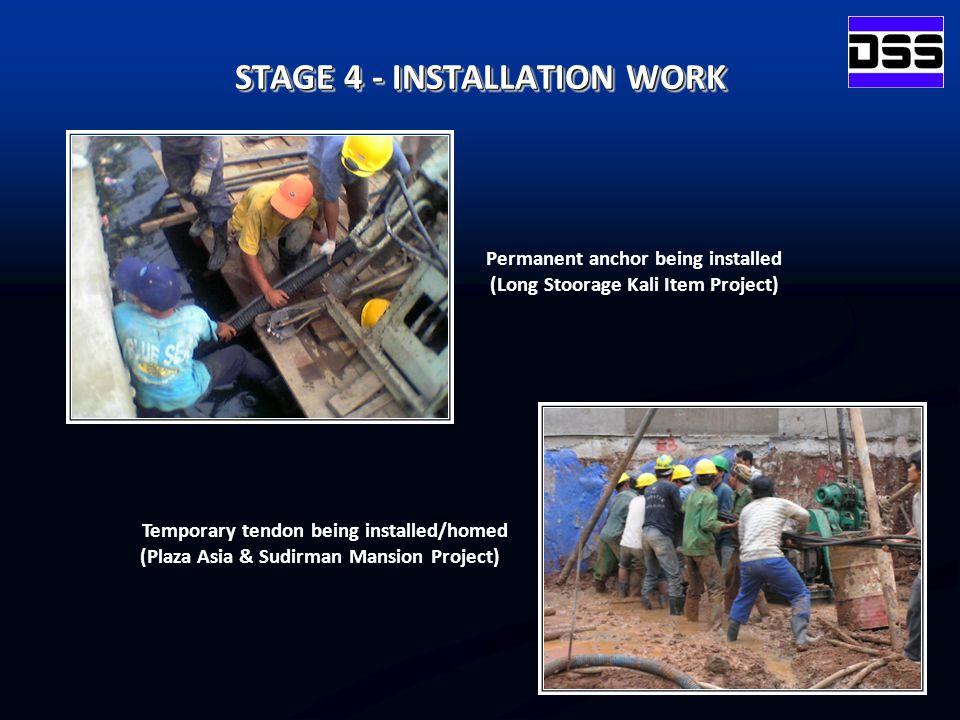 STAGE 4 - INSTALLATION WORK